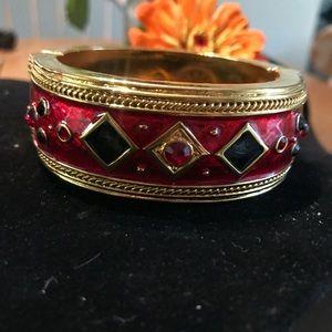 Berebi Enameled Hinged Bracelet Vintage